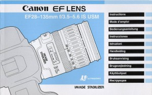 Canon EF 28-135mm f/3.5-5.6 IS USM - инструкция по эксплуатации
