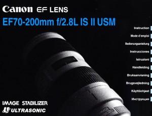 Canon EF 70-200mm f/2.8L IS II USM - инструкция по эксплуатации