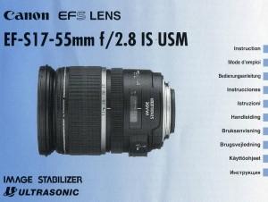 Canon EF-S 17-55mm f/2.8 IS USM - инструкция по эксплуатации