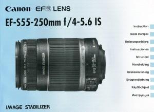 Canon EF-S 55-250mm f/4-5.6 IS - инструкция по эксплуатации