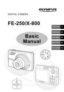 Olympus FE-250 (X-800) - инструкция по эксплуатации