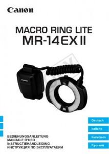 Canon Macro Ring Lite MR-14EX II - инструкция по эксплуатации