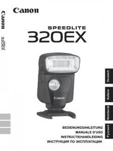Canon Speedlite 320EX - инструкция по эксплуатации