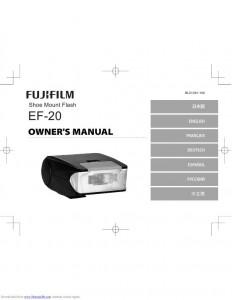 Fujifilm EF-20 - инструкция по эксплуатации