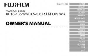 Fujifilm Fujinon Lens XF 18-135mm f/3.5-5.6 R LM OIS WR - инструкция по эксплуатации