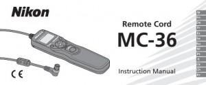 Nikon MC-36 - руководство пользователя