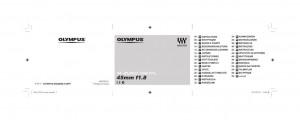 Olympus M.Zuiko Digital 45mm f/1.8 - инструкция по эксплуатации