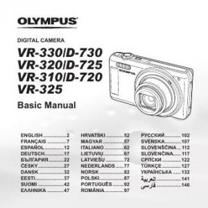 Olympus VR-330 (D-730), VR-320 (D-725), VR-310 (D-720), VR-325 - инструкция по эксплуатации