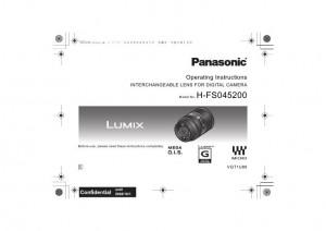 Panasonic Lumix G Vario 45-200mm f/4.0-5.6 MEGA O.I.S. (H-FS045200) - инструкция по эксплуатации