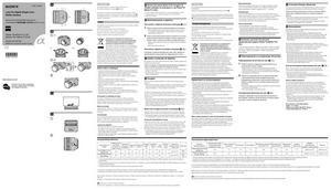 Sony Carl Zeiss Planar T* 85mm f/1.4 ZA (SAL85F14Z), Carl Zeiss Sonnar T* 135mm f/1.8 ZA (SAL135F18Z) - инструкция по эксплуатации
