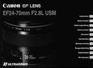 Canon EF 24-70mm f/2.8L USM - инструкция по эксплуатации