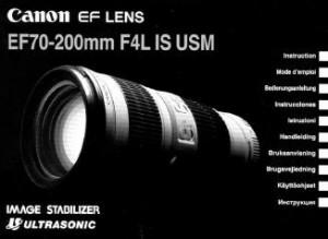 Canon EF 70-200mm f/4L IS USM - инструкция по эксплуатации