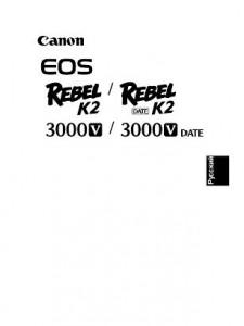 Canon EOS 3000V - инструкция по эксплуатации