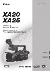Canon XA20, XA25 - руководство по эксплуатации