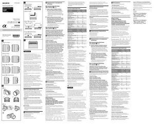 Sony E 30mm f/3.5 Macro (SEL30M35), E 50mm f/1.8 OSS (SEL50F18), Carl Zeiss Sonnar T E 24mm f/1.8 ZA (SEL24F18Z), Carl Zeiss Sonnar T FE 35mm f/2.8 ZA (SEL35F28Z) - инструкция по эксплуатации