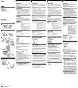 Sony HVL-F1000 - инструкция по эксплуатации