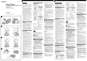 Sony HVL-IRH - инструкция по эксплуатации