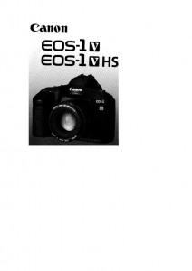 Canon EOS-1V - инструкция по эксплуатации