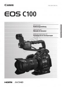 Canon EOS C100 - инструкция по эксплуатации