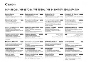 Canon MF4580dn, MF4570dn, MF4550d, MF4450, MF4430, MF4410 - инструкция по эксплуатации