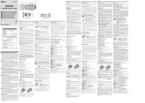 Nikon AF-S DX Nikkor 55-200mm f/4-5.6G ED VR II - руководство пользователя