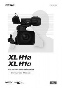 Canon XL H1S, XL H1A - руководство по эксплуатации