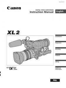 Canon XL2 - руководство по эксплуатации