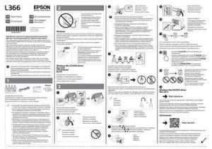 Epson L366 - руководство по установке
