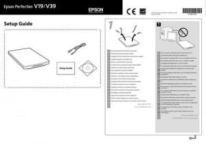 Epson Perfection V19 - руководство по установке