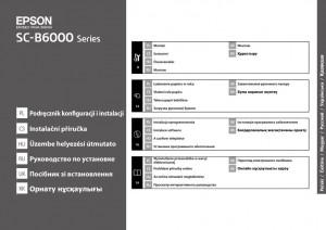 Epson SureColor SC-B6000 - руководство по установке принтера