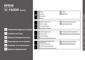 Epson SureColor SC-F6000 - руководство по установке