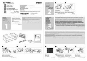 Epson SureColor SC-P800 - руководство по установке