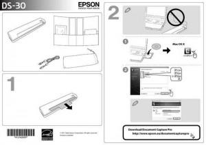 Epson WorkForce DS-30 - руководство по установке