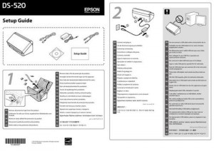 Epson WorkForce DS-520 - руководство по установке