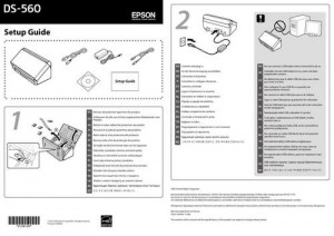 Epson WorkForce DS-560 - руководство по установке