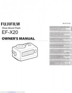 Fujifilm EF-X20 - инструкция по эксплуатации