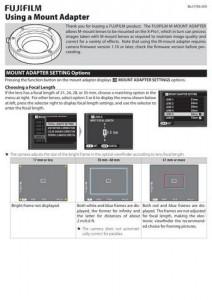 Fujifilm M Mount Adapter - инструкция по эксплуатации