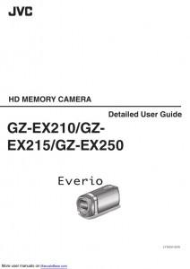 JVC Everio GZ-EX210, Everio GZ-EX215, Everio GZ-EX250 - инструкция по эксплуатации