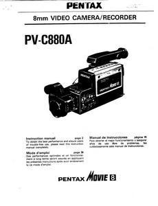 Pentax PV-C880A - инструкция по эксплуатации