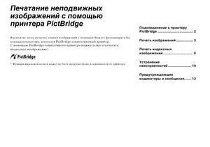 Sony Cyber-shot DSC-T1 - печатание неподвижных изображений с помощью принтера PictBridge