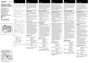 Sony VAD-S70, VAD-S70 B - инструкция по эксплуатации