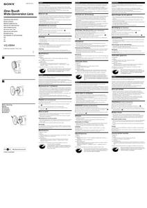 Sony VCL-ES06A - инструкция по эксплуатации