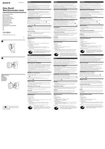 Sony VCL-ES20A - инструкция по эксплуатации